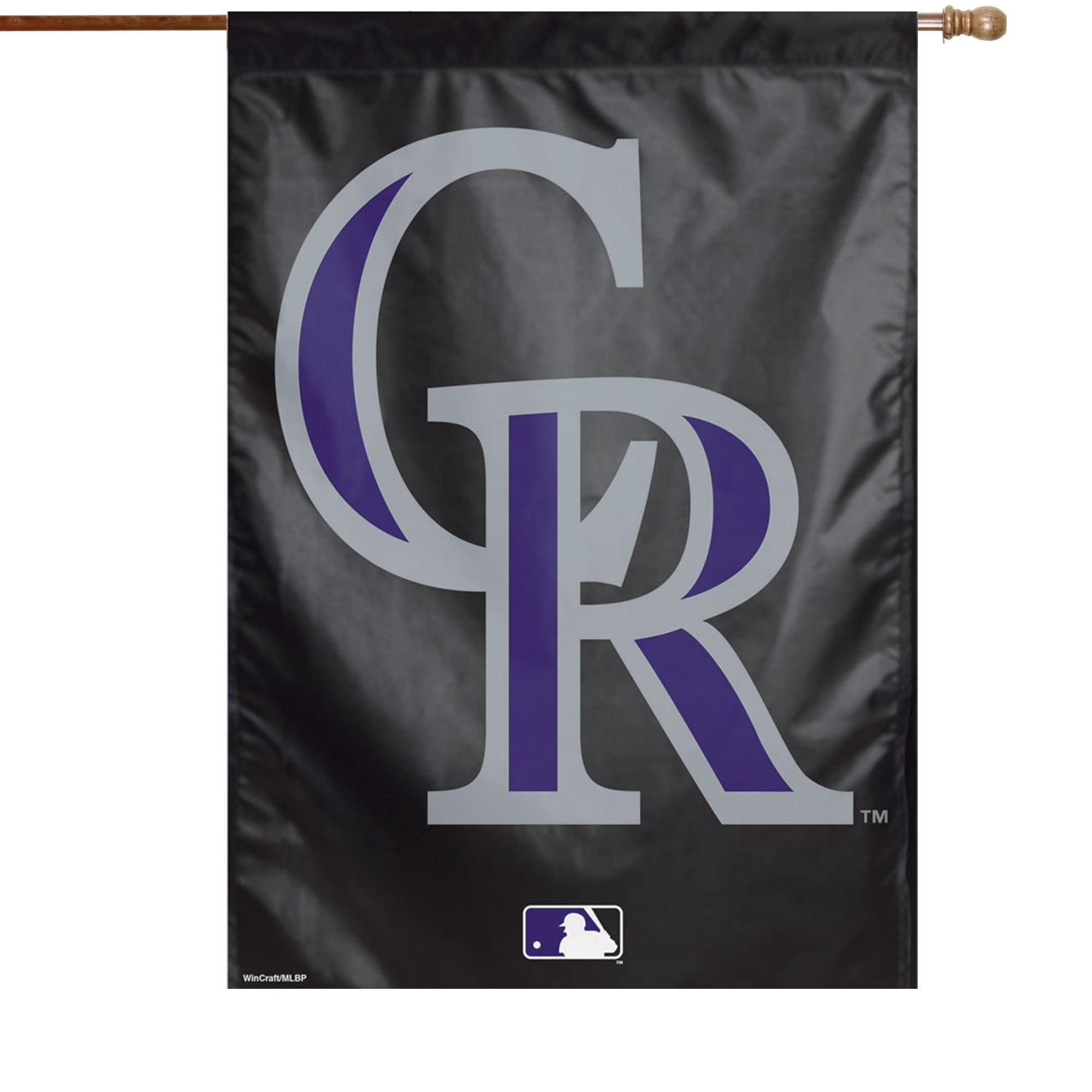 "Colorado Rockies WinCraft 28"" x 40"" Big Logo Single-Sided Vertical Banner - No Size"