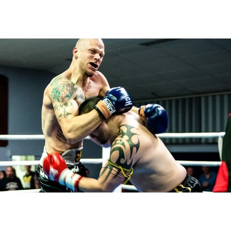 Laminated Poster Gym Muay Thai Kick Fight Fighter Boxer Boxing Poster Print 11 x (Best Thai Boxer In Thailand)