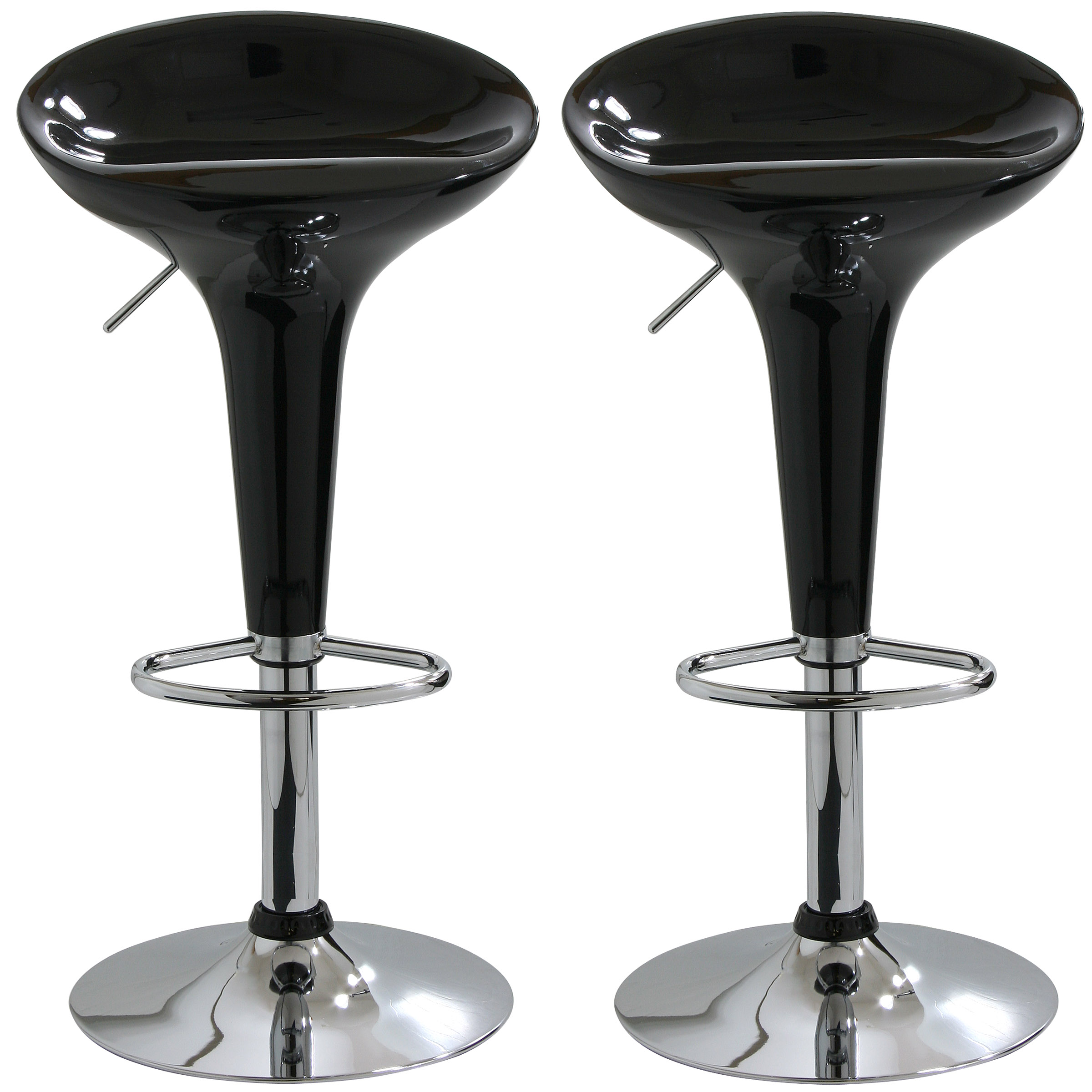 Amerihome Modern Sleek Black Bar Stool 2 Piece Walmart Com