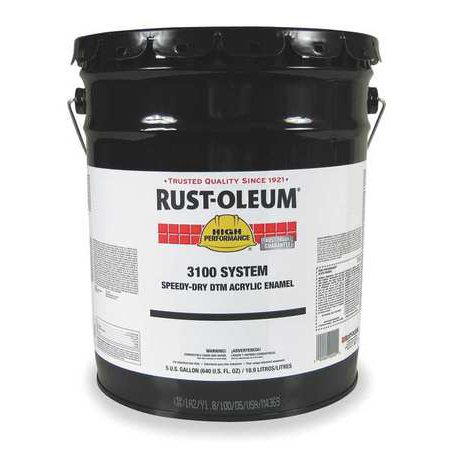 RUST-OLEUM 3179300 5 gal. Black High Gloss Water Enamel Paint Ash Burl High Gloss