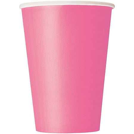 Paper Cups, 12 oz, Hot Pink, 10ct