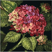 "Hydrangea Bloom Needlepoint Kit, 14"" x 14"""