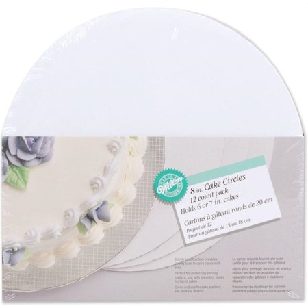 Wilton Cake Board/ Platter, 8 in. Circle, 12 ct.