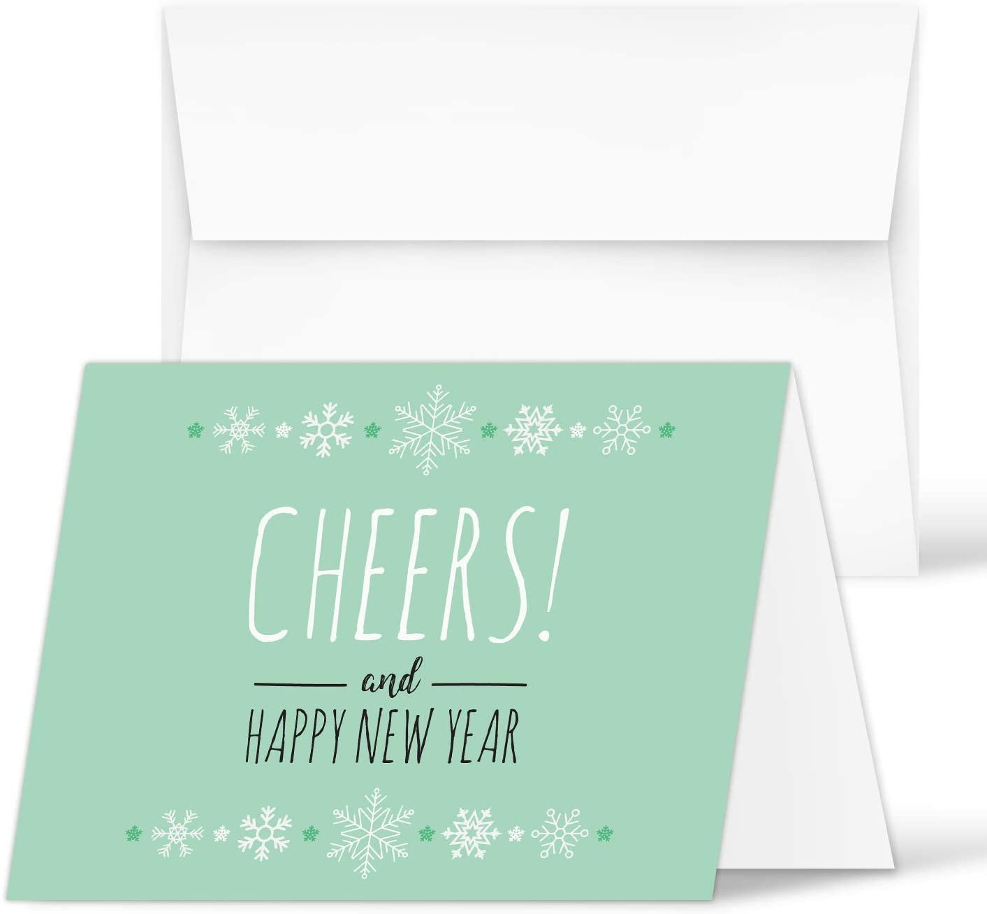 2021 Happy New Year – Blank Holiday Greetings Fold Over ...
