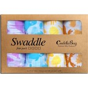 Muslin Baby Swaddle Blankets 'Colorful Critters' 4 Pack- CuddleBug 47 x 47 inch Large Muslin Swaddles - Soft Cotton Blankets - Baby Shower Gift - Perfect for Nursery Sets - Unisex!