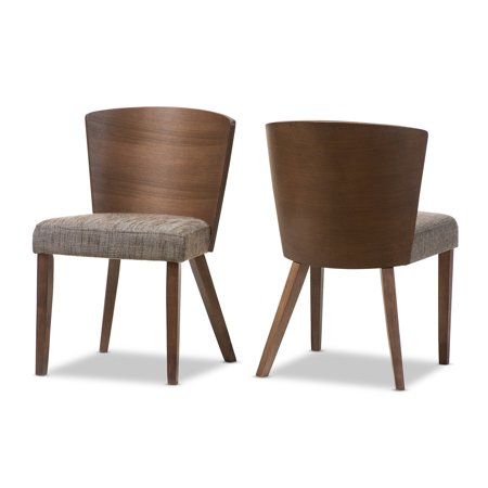 Baxton Studio Sparrow Dining Chair Set Of 2 Walmart Com