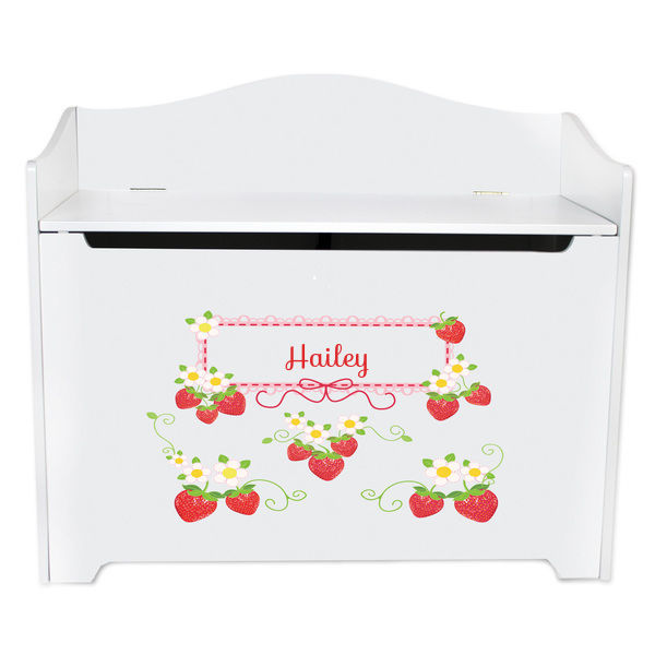 Personalized Strawberries Toy Box Bench Custom