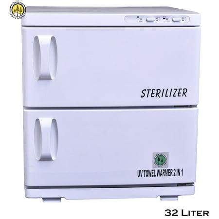 Double Hot Towel - DevLon NorthWest Double Door Hot Towel Warmer Cabinet UV Sterilizer 35 Liter Spa Cabinet