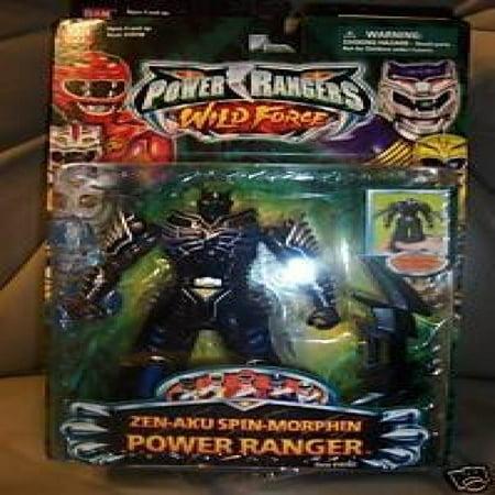 Power Rangers Wild Force Zen Aku Spin Morphin Ranger MOC MOSC](Power Rangers Skin)