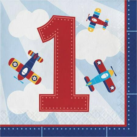 Toy Airplane 1st Birthday Napkins, 48-Pack