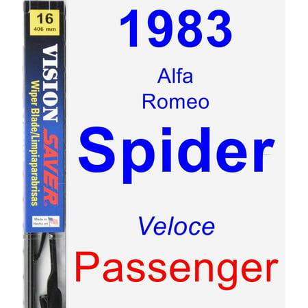 1983 Alfa Romeo Spider (Veloce) Passenger Wiper Blade - Vision Saver