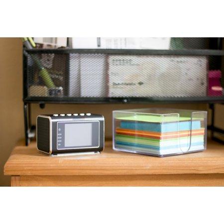 Portable Mini Clock Radio Camera w/ Integrated 3W Speaker + Mic](Click Camera)