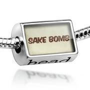 Bead Sake Bomb Cocktail, Vintage style Charm Fits All European Bracelets