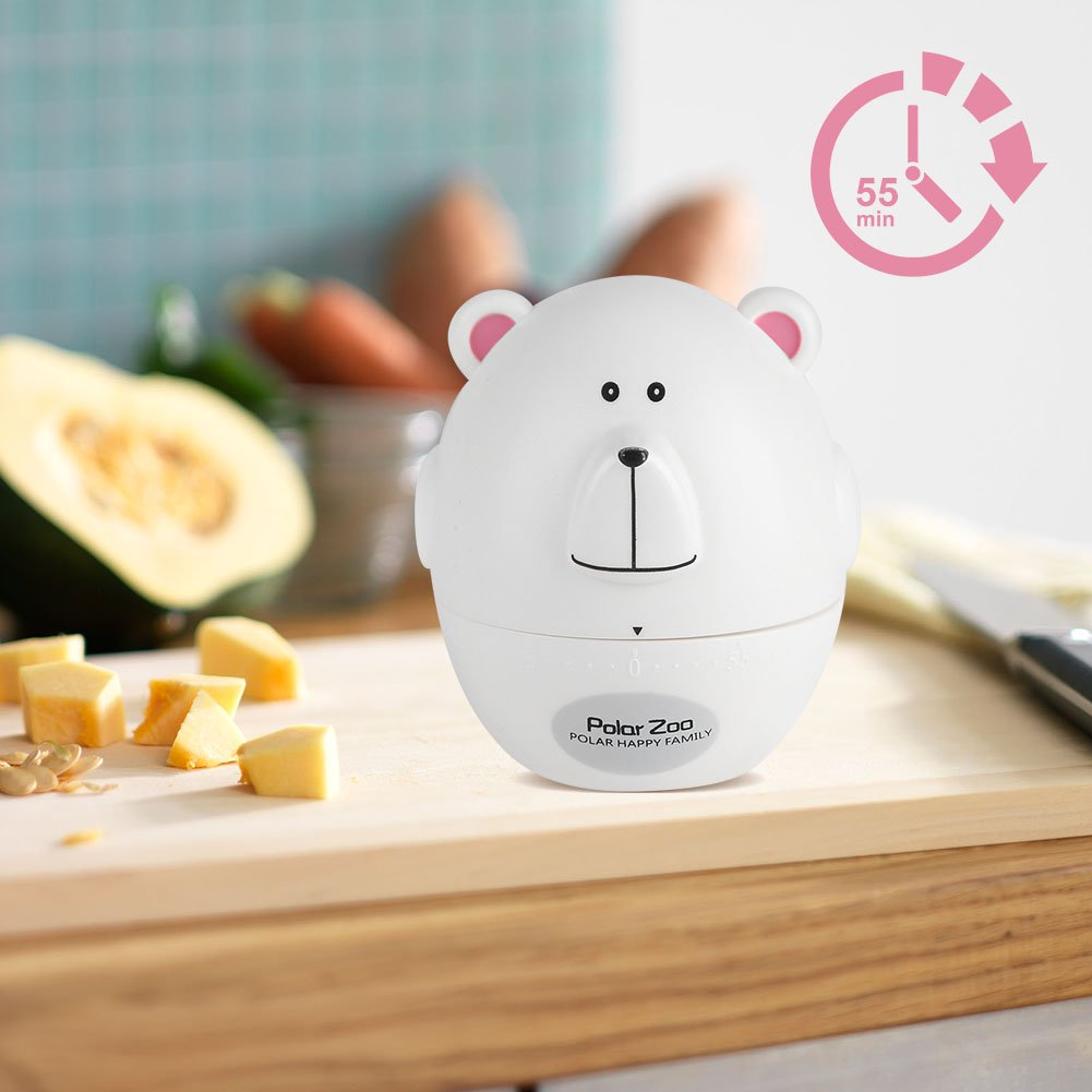 Sonew Cute Cartoon Kitchen Timer Mechanical 55 Minutes Cooking Supplies Kitchen Timer Mechanical Kitchen Timer