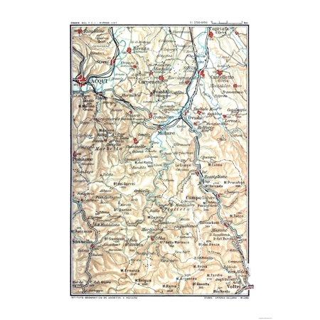 Map Of North West Italy.International Map Northwest Italy Molare Guida D Italia 1914