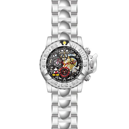 acd3aed46 Invicta - Women's Disney Quartz Multifunction Black Gunmetal Silver Dial  Watch 24506 - Walmart.com