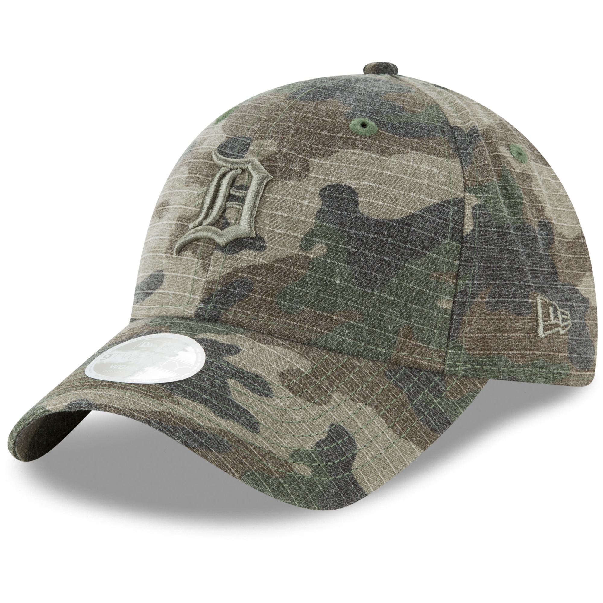 Detroit Tigers New Era Women's Tonal Core Classic 9TWENTY Adjustable Hat - Camo - OSFA