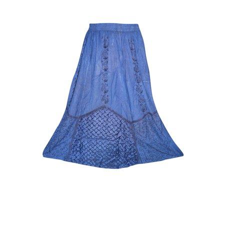 Lucknowi Chikankari Work, Cotton fabric with Beautiful Phulkari Embroidered  long skirt