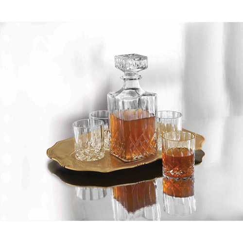 Denmark 6-Piece Whiskey Set: Decanter, 32 oz