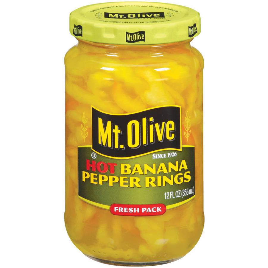 Mt. Olive Hot Banana Pepper Rings, 12 fl oz
