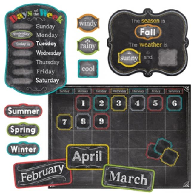 CHALK IT UP! CALENDAR SET BULLETIN BOARD