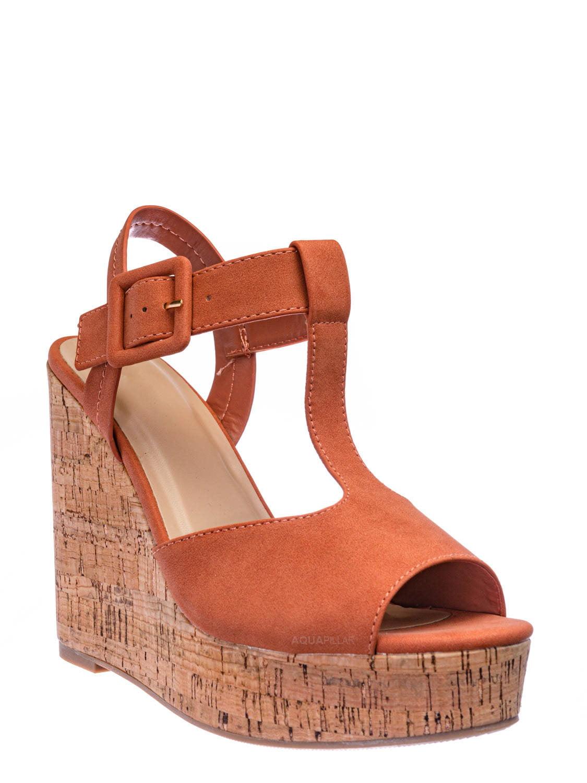 wedge heel open toe shoes