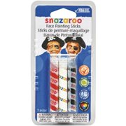 SNAZAROO Boys Face Painting Sticks Body Art Party Black, White, Red
