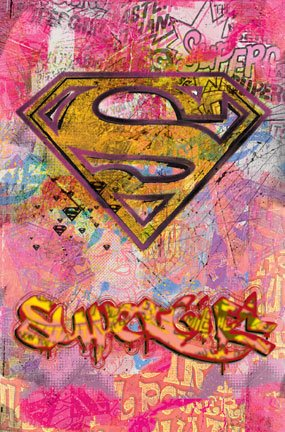 SUPERGIRL POSTER NEW SUPERMAN 24X36 GRAFFITI LOGO