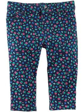c6dda858c Product Image Oshkosh B'gosh Baby Girls Bottoms 11858611 -Navy Floral - 2T
