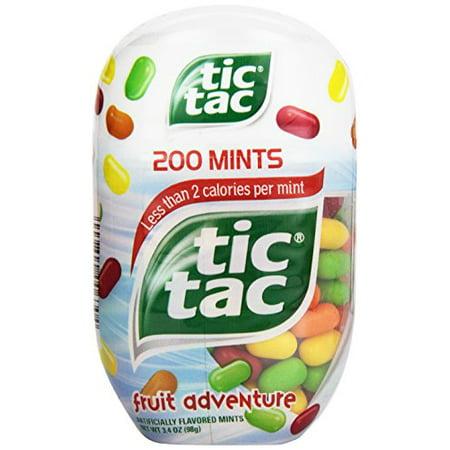 3 Pack - Tic Tac Fruit Adventure Mints 200 count 3.4 oz Each (Blue Tic Tacs)