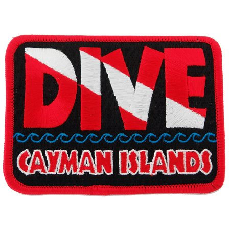 Dive Cayman Islands Embroidered Iron-on Scuba Diving Patch