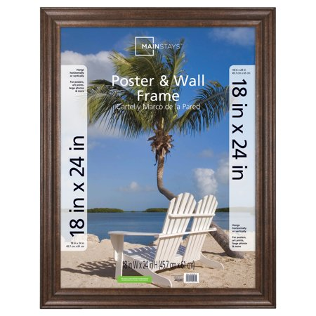 Mainstays 18x24 Wide Bronze Poster And Picture Frame Walmart