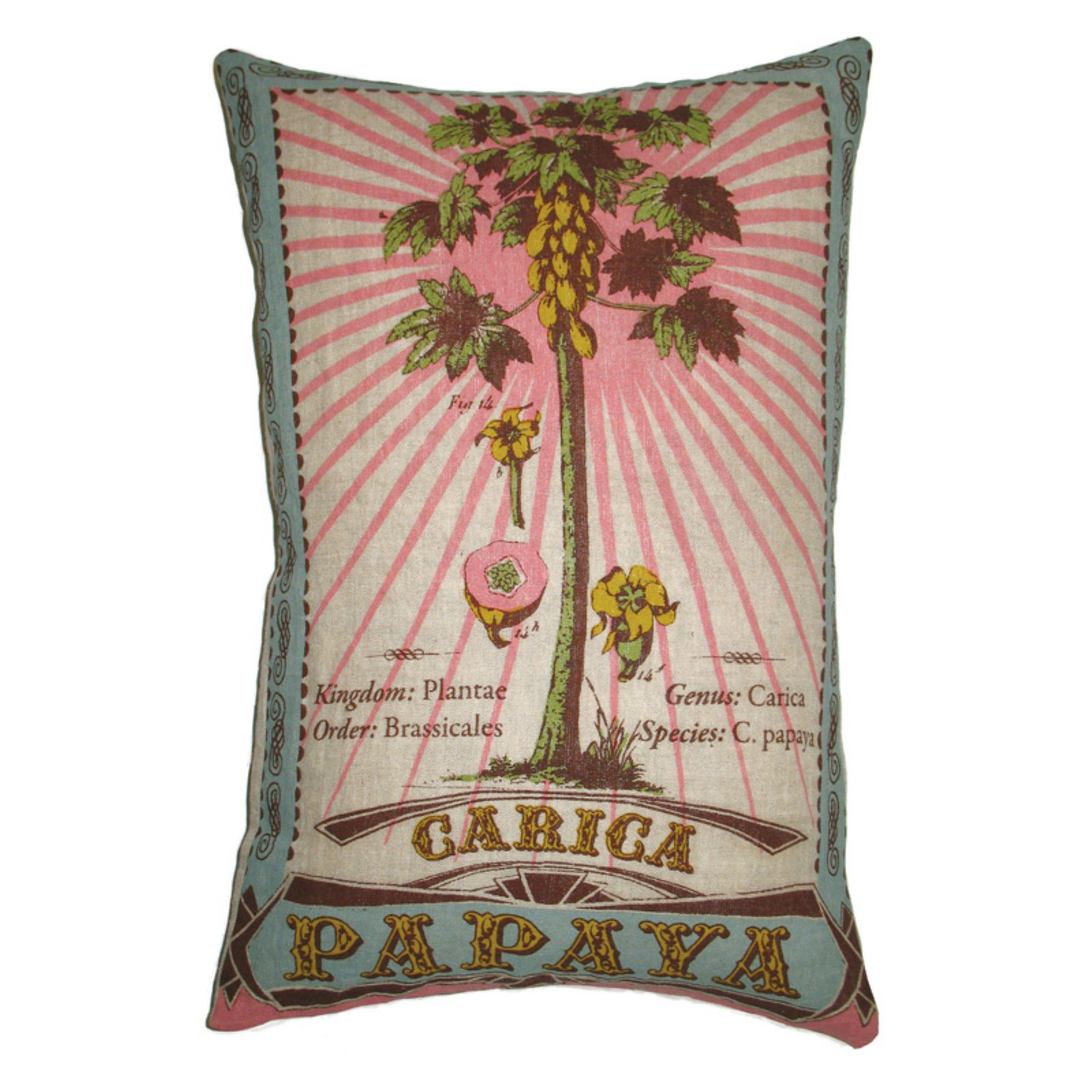 Koko Company Botanica Carica Papaya Decorative Pillow