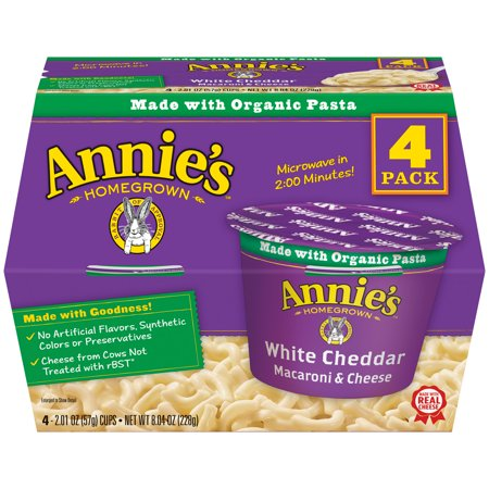 Annie's White Cheddar Macaroni and Cheese 4 Pk., 8.04 (Best Pasta For Macaroni And Cheese)