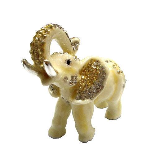 Cristiani Collezione Rhodium Plated Elephant Keepsake Box