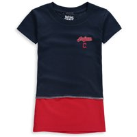 Cleveland Indians Refried Apparel Girls Toddler T-Shirt Dress - Navy