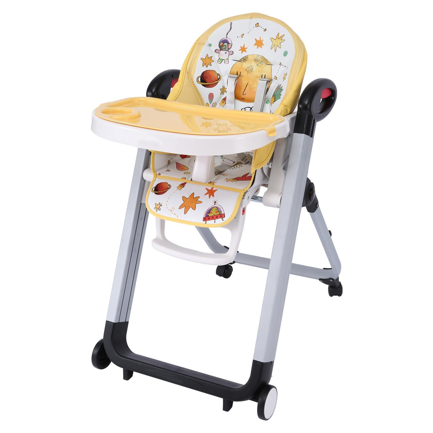 Multi-functional Baby High Feeding Chair.Full Recline Siesta Highchair, Portable Telescopic Child Dining Table Chair Supporting 45lbs Margot