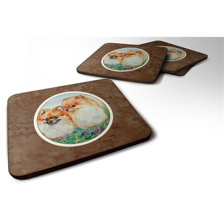 Pomeranian Foam Coaster, 3.5 x 0.25 x 3.5 in. - Set of 4 - image 1 de 1