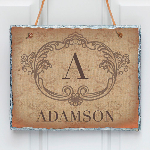 Personalized Vintage Family Initial Wall Slate