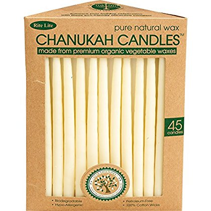 Rite Lite Vegetable Wax Chanukah Candles (Rice Wax Candle)