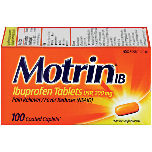 Motrin IB Pain Reliever/Fever Reducer, 100 Count