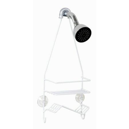 Zenna Home 7504W 18u0022 x 7u0022 x 3.75u0022 White Shower Head Caddy