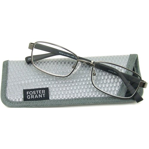 Foster Grant Men's Manning Reading Glasses, Gray