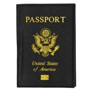 Marshal Wallet® New PU leather gold USA Logo Passport Cover/Holder travel organizer