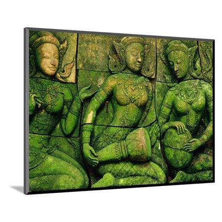 Terracotta Sculptures at Ban Phor Liang Meun Ceramics Wood Mounted Print Wall Art By Frank Carter