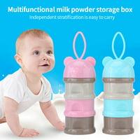 Product Image Yosoo 3 Layers Portable Infant Baby Milk Powder Formula Dispenser Storage Case Box Feeding Container,