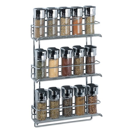 Organize It All Stainless Steel Wall Mount Spice Rack Walmartcom