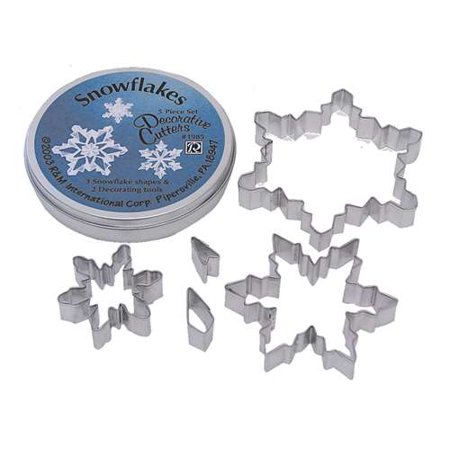 Snowflake Cookie Cutter - R&M Snowflake Cookie Cutter 5 Piece Set In Can