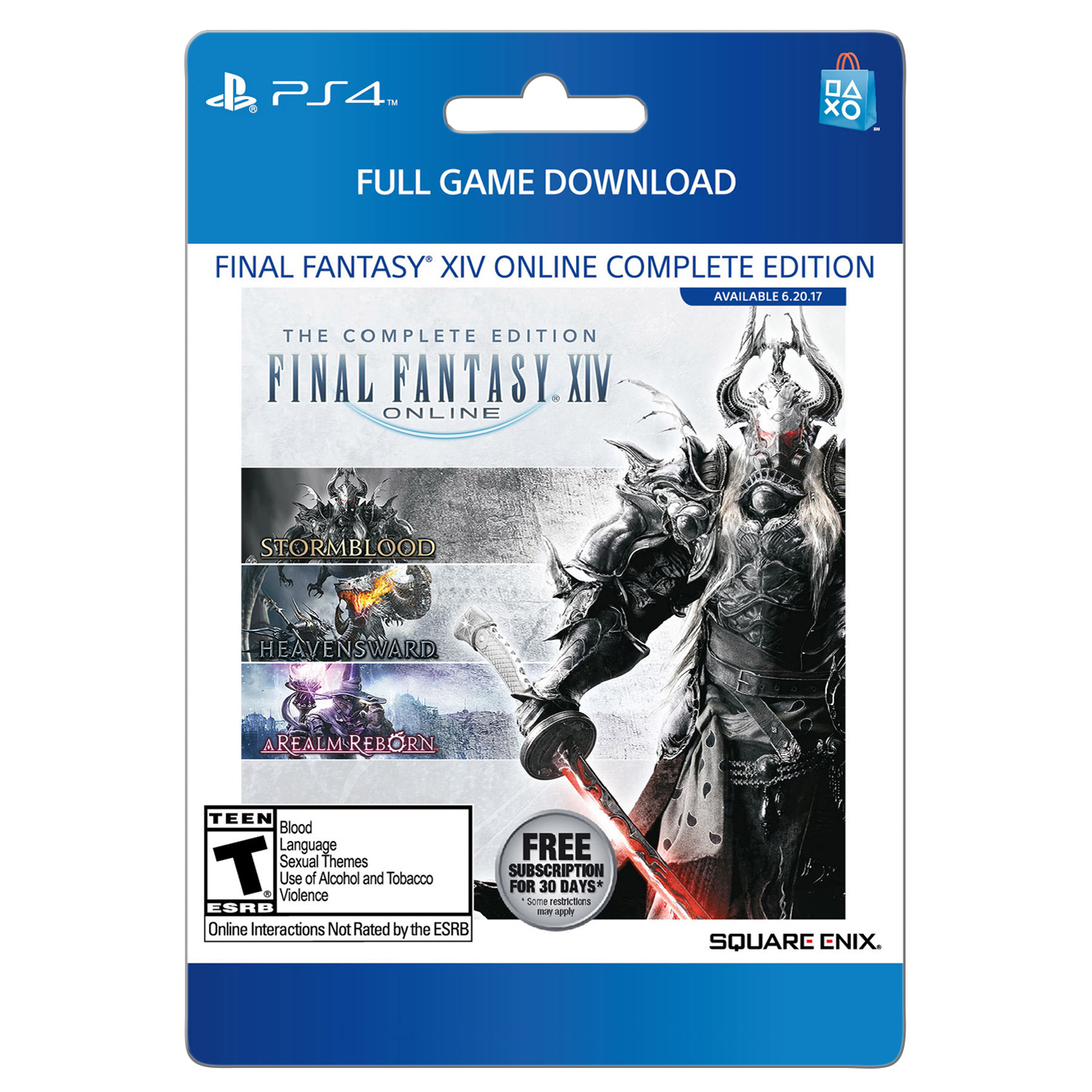 Image of Sony Final Fantasy XIV Stormblood Complete Edition (email delivery)