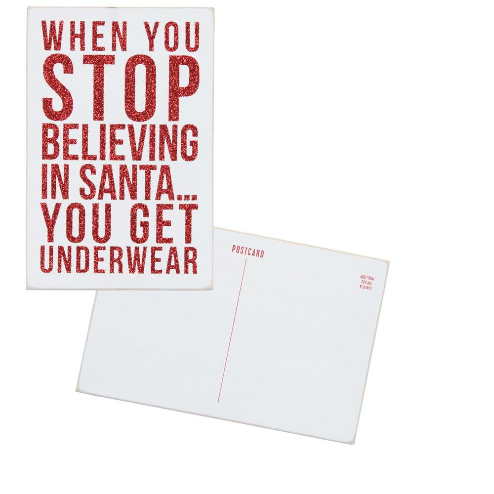 Set of 3 - Wooden Postcard - Underwear